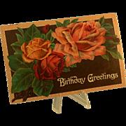 """Postcard """"Birthday Greetings"""", Pre WWI, Printed in Germany"""