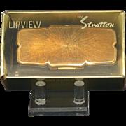 "Vintage Stratton ""Lipview"" Lipstick Mirror In Original Box"