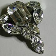 Vintage Clear Rhinestone Pin Circa 1930's