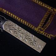 "SALE Sterling-Cased Purse Perfume Bottle, Engraved ""Grandmama"""
