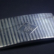 SALE Art Deco Period Sterling Silver Curved Card Case