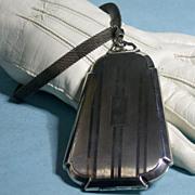 Art Deco Sterling Minaudiere W/Wrist Strap, Compartments, 1930s
