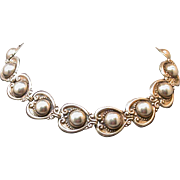 Taxco, Mexico Sterling Silver Choker, 15-in. Length, 1930's