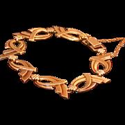 Art Deco Symmetalic 14K/Sterling Silver Flexible Bracelet