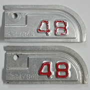REDUCED Old 1948 California Tabs