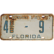 1957 Florida License Plate