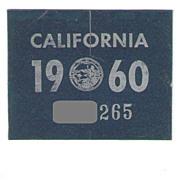 1960 California Sticker
