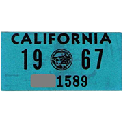 Old California Sticker 1967