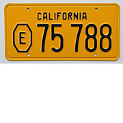 SALE Old California Exempt License Plate, 1956