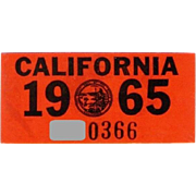 Old 1965 California Decal