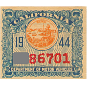 SALE 1944 California Sticker