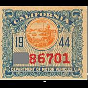 1944 California Sticker