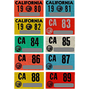 Old California Stickers 1980 to 1989