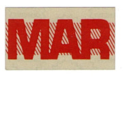 Vintage California Red Month Sticker March
