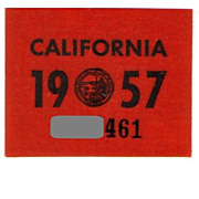 REDUCED Vintage California Sticker 1957