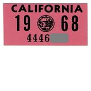 1968 California Sticker