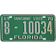 1969 Florida License Plate