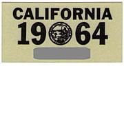 Old California Sticker 1964