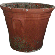 Large Vintage 1940's Watts Concrete Flower Pot Palm Beach