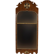 Antique 18th century Queen Anne Walnut Long Mirror