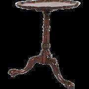 Antique 18th century Georgian Carved Mahogany Pie Crust Tilt Top Occasional Tea Table