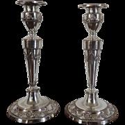 Fine Pair George III Old Sheffield Silver on Copper Candlesticks in the Adam Taste 179e b0