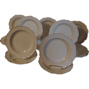 Rare Set Twelve Antique 18th century Wedgwood Creamware Dinner  Plates or Soup Bowls