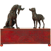 Meriden Britannia Company Enameled Copper Humidor or Box for Desk or Jewelry in the Aesthetic