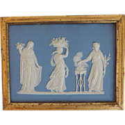 Antique 19th century Wedgwood Jasperware Neoclassical Wall Plaque