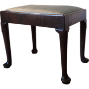 Period Antique 18th century Queen Anne Walnut Stool