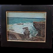 American Impressionist Sea Scape Oil Painting Monhegan Maine