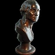 Rare 19th c. Bronze Bust President George Washington