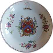 Antique 18th century Chinese Export Armorial Porcelain Saucer Bowl