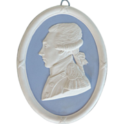 Antique Early 19th century Wedgwood Portrait Plaque of the Marquis de Lafayette