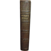 Large 19th century Leather Bound Volume of Charles Dickens' Works