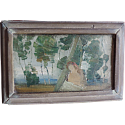 American Impressionist Oil Painting by Edward Scholl Exhibited at The California Art Club 1920