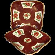 Early 19th c. Coalport Imari or Japan Porcelain Dessert Dishes in Batavia Pattern 1800-1810