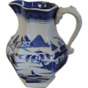 Antique early 19th century Mason's Patent Ironstone China Pitcher or Jug in the Blue ...