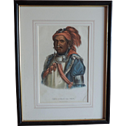 McKenney & Hall Hand Colored Print of Native American Indian Tens-Kwau-Ta-Waw - The Prophet 18