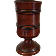 Antique Early 19th century English George III Treen Wood Goblet or Trophy Cup