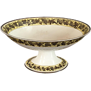 Antique Early 19th century Wedgwood Pearlware Creamware Centerpiece Footed Oval Compote Fruit