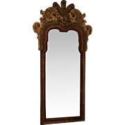 Antique 18th century English George II Walnut Gilt Wood Pier Mirror c. 1740