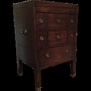 Antique Early 19th century English George III Mahogany Beau Brummel Dressing Stand or Gentlema