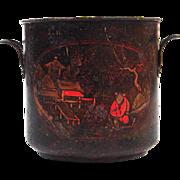 Antique French Louis XV Tôle Peinte Cache Pot Planter or Wine Bottle Cooler Mid 18th ...