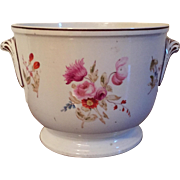 Antique Early 19th c. Coalport Porcelain Cachepot Planter or Wine Bottle Cooler 1810 Decorated
