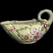 18th c. Derby Porcelain Lettuce Leaf Form Sauce Boat 1760 - 1765