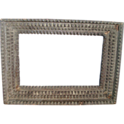 Early 20th c. American Antique Tramp Art Wooden Picture Frame