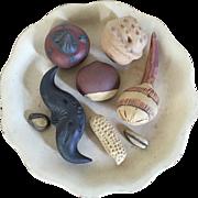 Chinese Yixing Pottery Sculpture of Individual Nuts - Chestnut, Walnut, Peanut, Hazelnut & ...