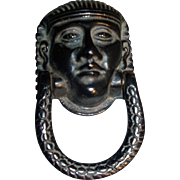 19th c. English Regency Egyptian Revival Door Knocker in the form of Pharaoh