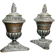 Pair of Early 19th c. Regency Bronze Urn Form Pastille or Incense Burners c. 1815